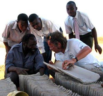 MicroConcrete Tiles in Zambia - Kurt Rhyner